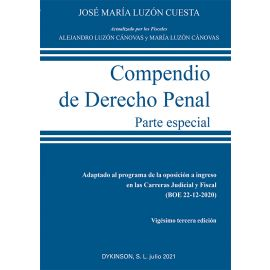 Compendio Derecho Penal. Parte especial 2021