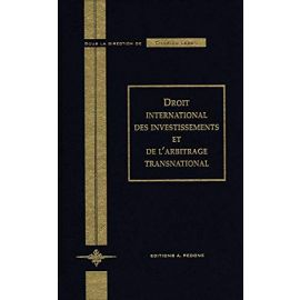 Droit international des investissements et de l'arbitrage transnational
