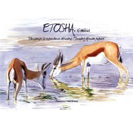 ETOSHA, Namibia. Dibujando la naturaleza africana Drawing african nature