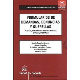 Formularios de demandas, denuncias y querellas penales,                                              contencioso-administrativas, civiles y laborales
