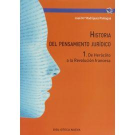 Historia del pensamiento jurídico I. De Heráclito a la Revolución francesa
