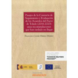 Pasajes de la comisión de seguimiento y evaluación de los acuerdos del Pacto de Toledo (2016-2020): unas recomendaciones que han tardado en llegar