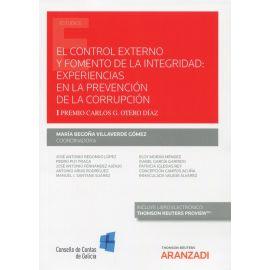 El control externo y fomento de la integridad: experiencias en la prevención de la corrupción. I Premio Carlos G.Otero Díaz