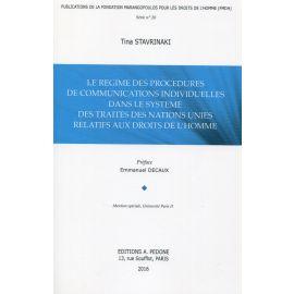 Regime des procedures de communications individuelles dans le systeme des traites des nations unies relatifs aux droits de l´homme