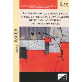 La teoría de la advertencia y una exposición y evaluación de todas las teorías del Derecho penal