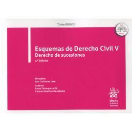 Esquemas de Derecho Civil V . Derecho de sucesiones 2021. Tomo XXXVIII