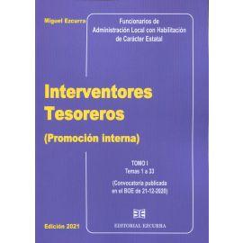 Interventores tesoreros (Promoción interna) 2 Tomos 2021