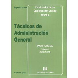 Técnicos de Administración General 2021. 3 Vols. Funcionarios de las corporaciones locales Grupo A