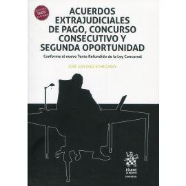 Acuerdos extrajudiciales de pago, concurso consecutivo y segunda oportunidad