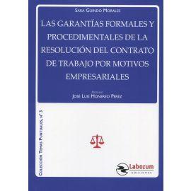 Las garantías formales y procedimentales de la resolución del contrato de trabajo por motivos empresariales