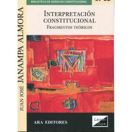 Interpretación Constitucional. Fragmentos teóricos.