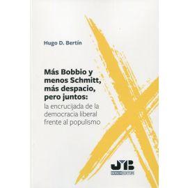 Más Bobbio y menos Schmitt, más despacio, pero juntos: la encrucijada de la democracia liberal frente al populismo