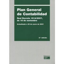 Plan general de contabilidad 2021. Real Decreto 1514/2007, de 16 de noviembre
