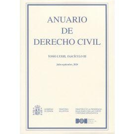 Anuario de Derecho Civil, 73/3. Julio-septiembre 2020
