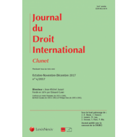 Journal du Droit International Clubes 2018. Print