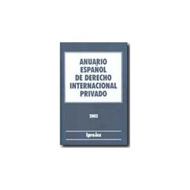 Anuario Español de Derecho Internacional Privado 2001 Tomo I