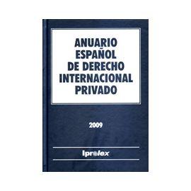 Anuario Español de Derecho Internacional Privado 2009 Tomo IX