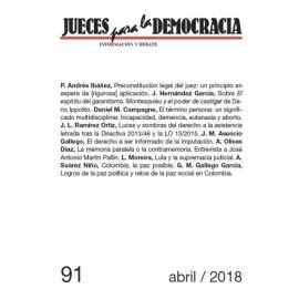 Jueces para la Democracia 2018. Nº 91, 92 y 93