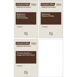 Pack Colección Derecho de Familia: 2020 Vivienda Familiar y Cargas del Matrimonio + Relaciones Paterno-Filiales + Regímenes Económico- Matrimoniales