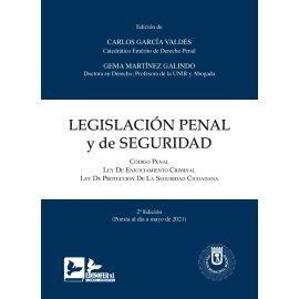 Legislación Penal y de Seguridad 2021. Código Penal+Enjuiciamiento Criminal+Seguridad Ciudadana