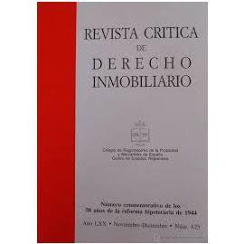 Revista Crítica de Derecho Inmobiliario 2018 Nº 765 a 771