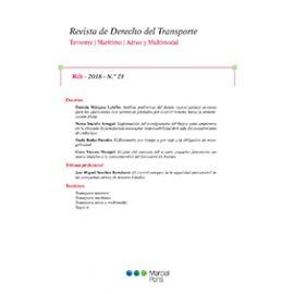 Revista de Derecho del Transporte, nº 23, año 2019
