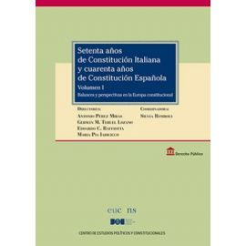 Setenta años de Constitución Italiana y cuarenta años de Constitución Española, 5 volúmenes