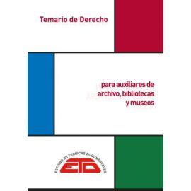 Derecho para Auxiliares de Archivos, Bibliotecas y Museos. Madrid: ETD,