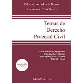 Temas de Derecho Procesal Civil. Adaptado al nuevo programa de las pruebas selectivas para ingreso en las Carreras Judicial y Fiscal