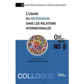 Usage du référendum dans les relations internationales