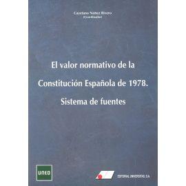 Valor normativo de la Constitución Española de 1978. Sitema de fuentes