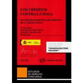 Los créditos contra la masa. XI Congreso español de derecho de la insolvencia