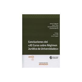 Conclusiones del XI Curso sobre Régimen Jurídico de Universidades