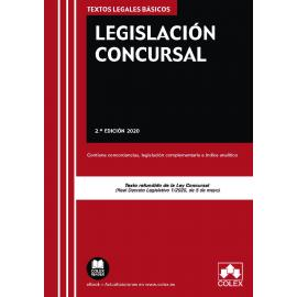 Legislación Concursal 2020. Contiene concordancias, legislación complementaria e índice analítico