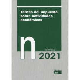 Tarifas del impuesto sobre actividades económicas. Normativa 2021