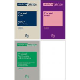Pack Memento Procesal Civil 2022 +Memento Procesal Penal 2022 Procesal Contencioso-Administrativo 2022